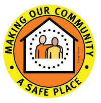 Safe Place logo with making our Community a safe place text